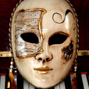 Allegro Piano Life size Home Decor Mask