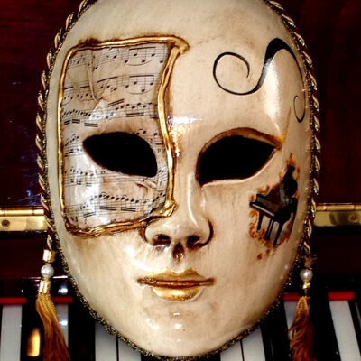 Allegro Piano Life size Home Decor Mask