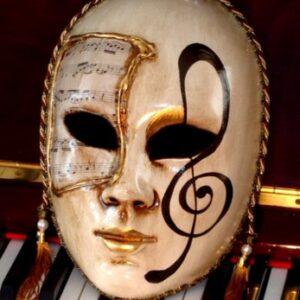 Allegro Treble Clef Lifesize Venetian Mask