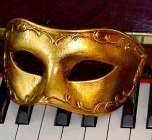 Antonio Gold Mens Masquerade Mask