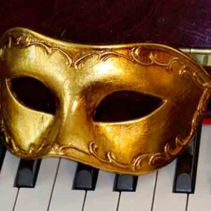 Antonio Gold Mens Masquerade Mask