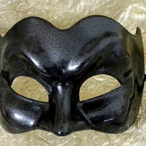 Eclipse Zane Masquerade Mask for Large Man with Gun Metal Finish