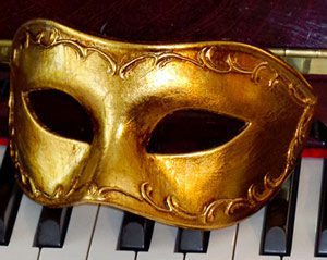 Antonio Gold Venetian Mask - Italian Made