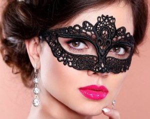 Amelia Black Lace Mask