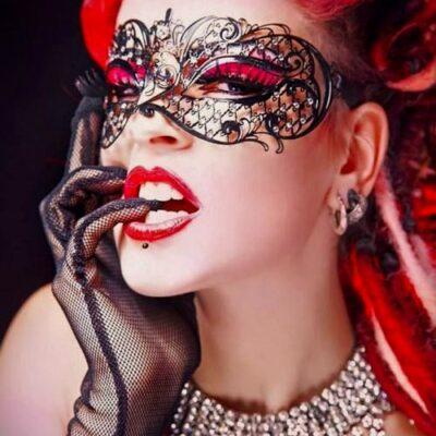 Adele Masquerade Mask Black