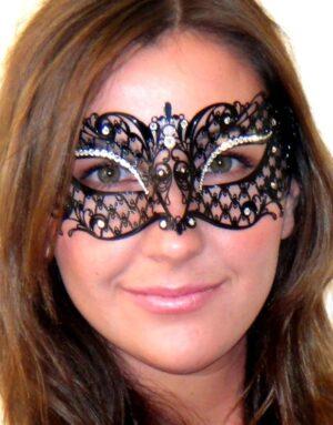 Adele Masquerade Mask Crystals