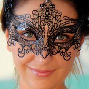 Angel Black Metal Filigree Mask