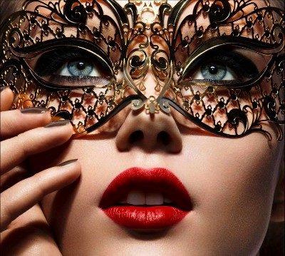 Masquerade Mask Black Adele