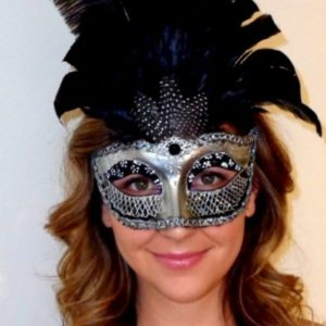 Antique Centurian Black silver Mask