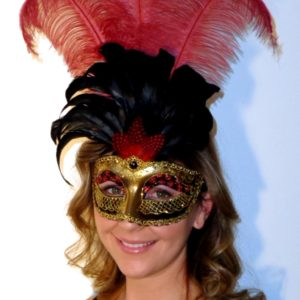 Antique Centurian Red Mask for Masquerade