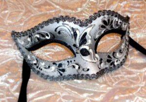 Bianca Silver Black Masquerade Mask