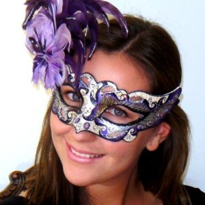 Celestial Eyes Purple Mask from Italy