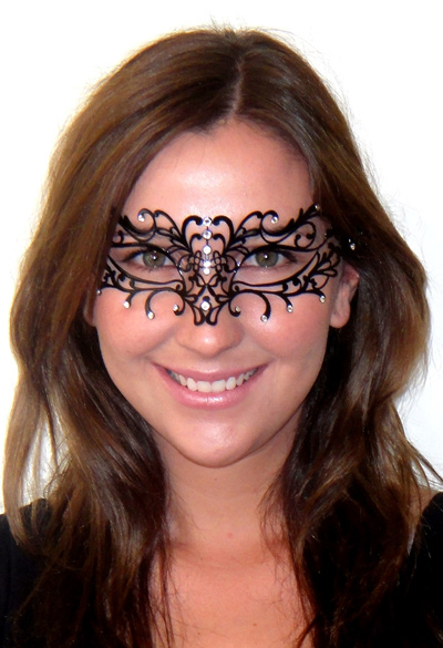 Enchanted Filigree Mask with Clear Swarovski Crystals