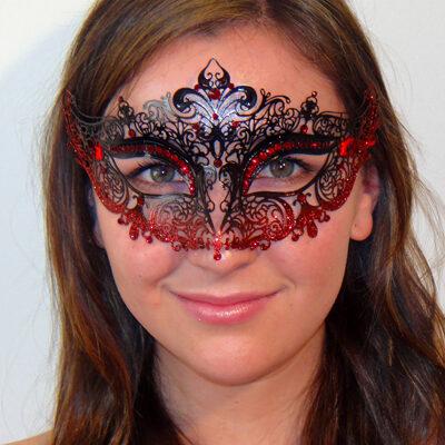 Fleur de Lys Red Mask