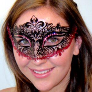 Fleur de Lys Pink Mask