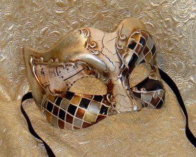 Melodramatic Zane Silver Large Mens Masquerade Mask