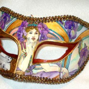 Purple Masquerade Mask Iris Mucha