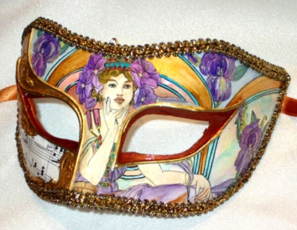 Parisienne Iris Hand Painted Mask