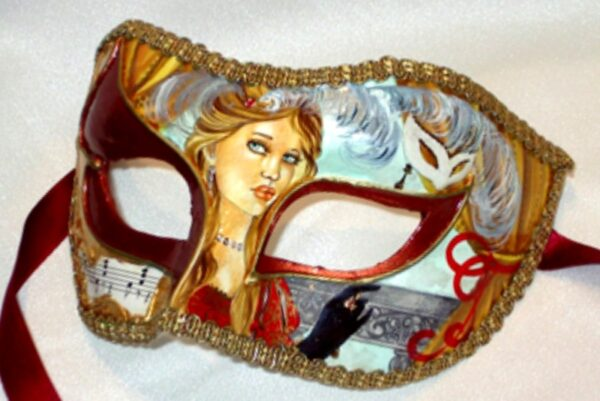 Parisienne Opera Red Paper Mache Mask