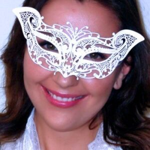 White Cat Masquerade Mask