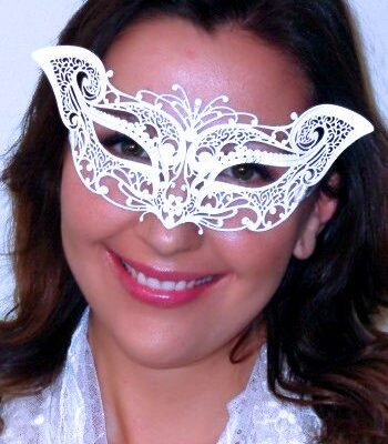 White Cat Masquerade Mask