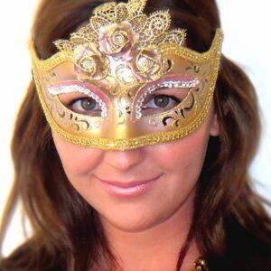 Mariette Venetian Mask - Rose