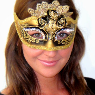 Masquerade Mask Marie Antoinette Nero Black