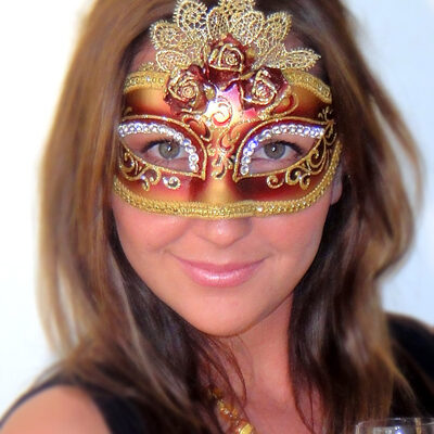 Masquerade Mask Maroon Marie Antoinette