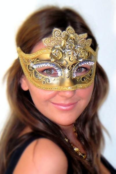Fancy Dress Mask Marie Antoinette Silver
