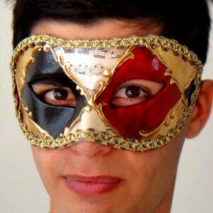 Red Mens Masquerade Mask