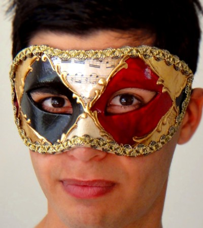 Red Mens Masquerade Mask