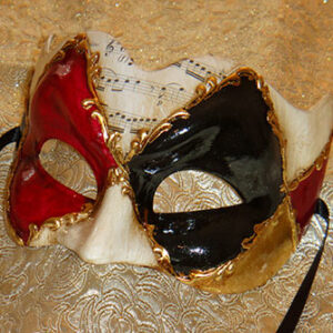 Ruby Zane Masquerade Mask for Large Man Music Theme