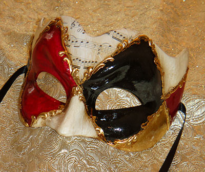 Ruby Zane Large Masquerade Mask