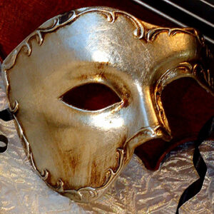 Silver Phantom of the Opera Mask Made in Italy