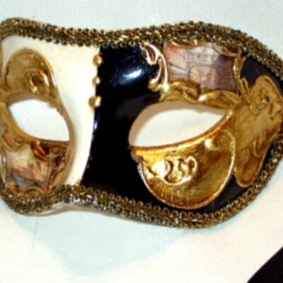 Venetian Eyes Black Gold Mask