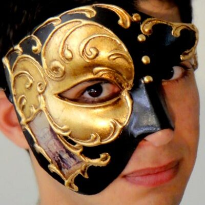 Venetian Phantom Mask Gold