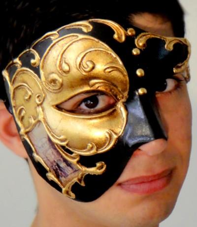 Venetian Phantom Mask Gold