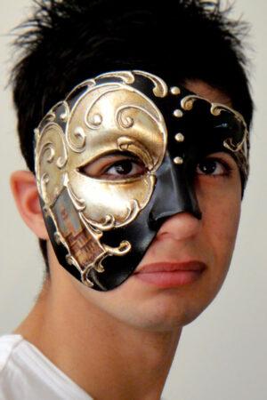 Venetian Phantom of the Opera Mask Silver Made in Italy