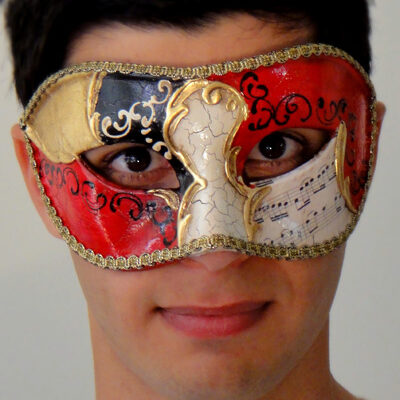 Vivaldi Eyes Gold Masquerade Mask Made in Italy
