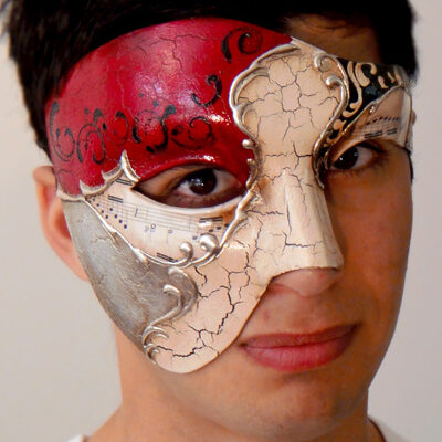 Vivaldi Phantom of the Opera Mask Made in Italy