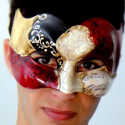 Vivaldi Zane Gold Large Mens Mask