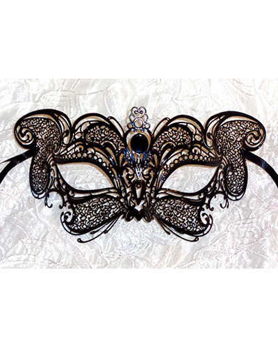 Whiskas Cat Costume Fancy Dress Mask Black Metal Lace Comfortable Fit