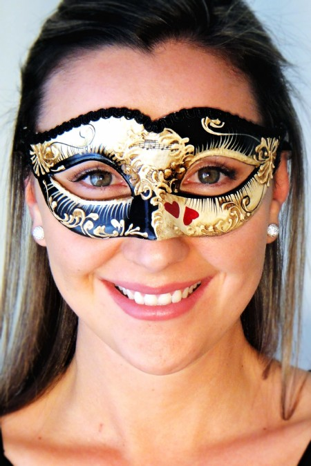 Queen of Hearts Masquerade Mask