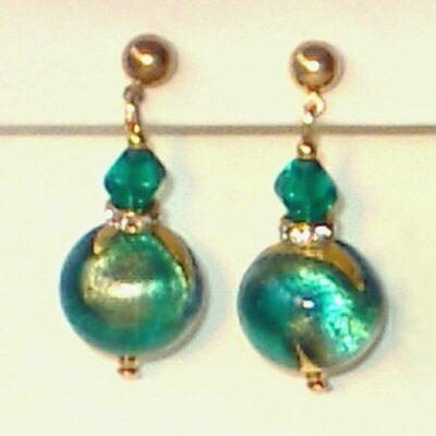 MuranoEarrings Turquoise