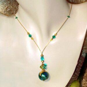 Bel Mondo Mermaid Murano Glass Turquoise