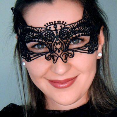 Black Cat Lace Mask
