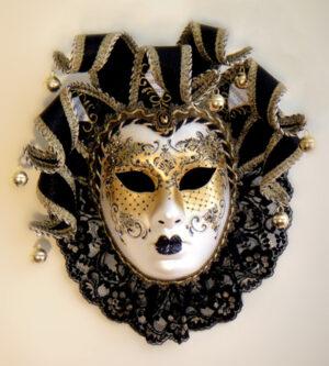 Carmen Jester Mask - Italian Made