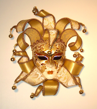Diana Elizabethan Mask for Home Decor Gold