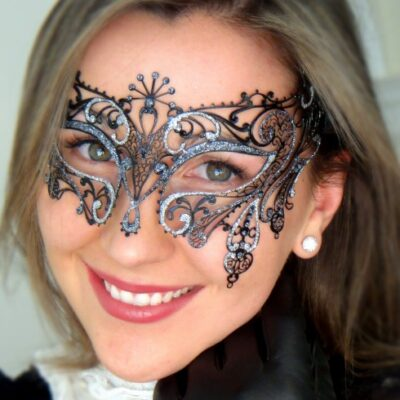 Gatsby Mask in Silver