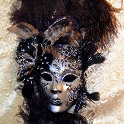 Gossomer Majesty Black Silver Decorator Mask